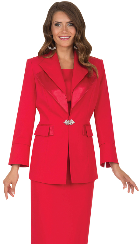 Aussie Austine Church And Choir Uniform 12427-RE ( 2pc Renova Jacket And Skirt Womens Suit )