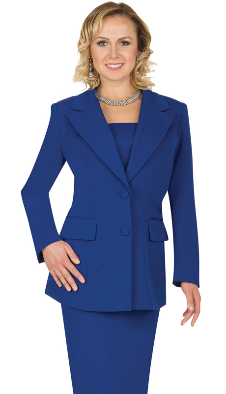 Aussie Austine Church And Choir Uniform 12427-RB ( 2pc Renova Jacket And Skirt Womens Suit )