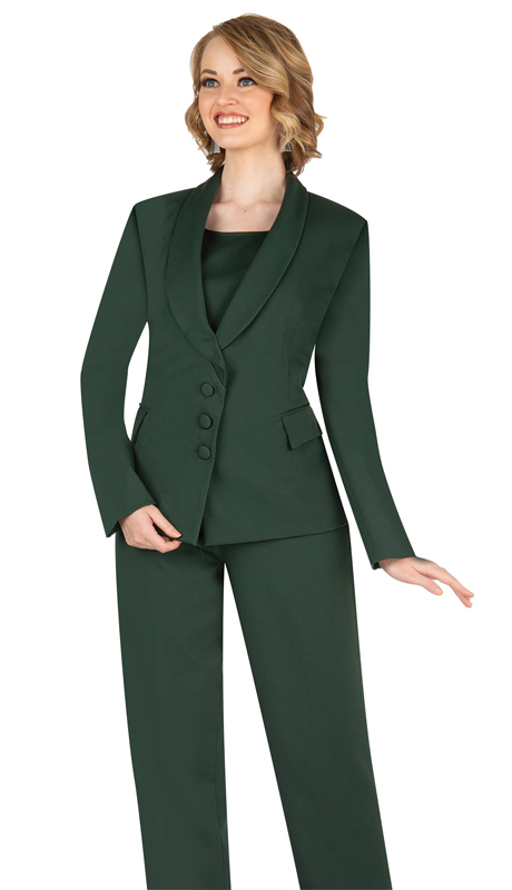 Aussie Austine 841-HG ( 4pc Gabardine Ladies Wardrober Set Includes Jacket, Cami, Skirt And Pants )