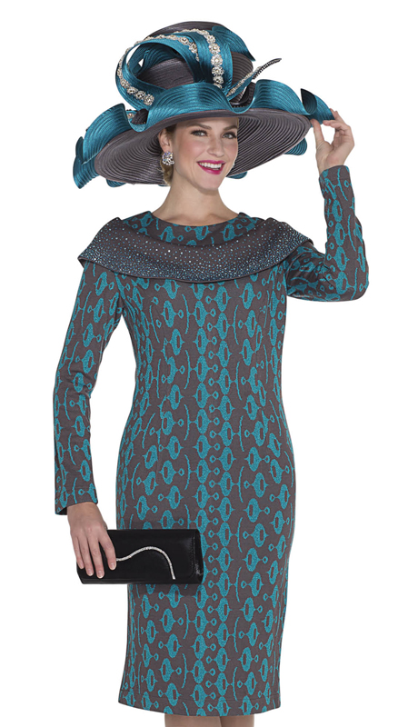 Aussie Austine 7957-KG ( 1pc Exclusive Knit Ladies Church Dress )