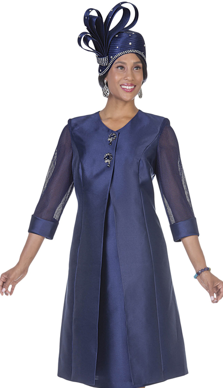 Aussie Austine 5126-NA  ( 2pc  Satin Womens Long Sunday Coat And Dress )