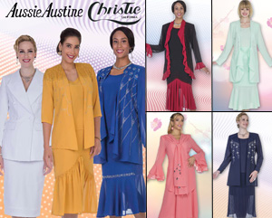 Christie Aussie Austine Ladies Georgette Church Suits Fall And Holiday 2017