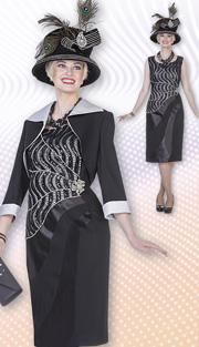 Aussie Austine 4865 (2pc Peachskin Ladies Church Dress With Bolero Jacket And Sequin And Rhinestone Detail Bodice )