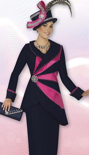 Aussie Austine 4860 ( 2pc PeachSkin Womens Church Suit With Rhinestone Embellishment )