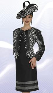 Aussie Austine 4615 ( 2pc Exclusive Brocade Womens Church Dress With Teardrop Pattern  Jacket And Rhinestone Details )