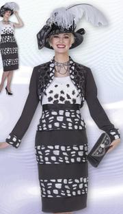 Aussie Austine 4612 ( 2pc Peachskin Ladies Church Dress With Bolero Jacket ANd Animal Print, Embellished With Rhinestones )