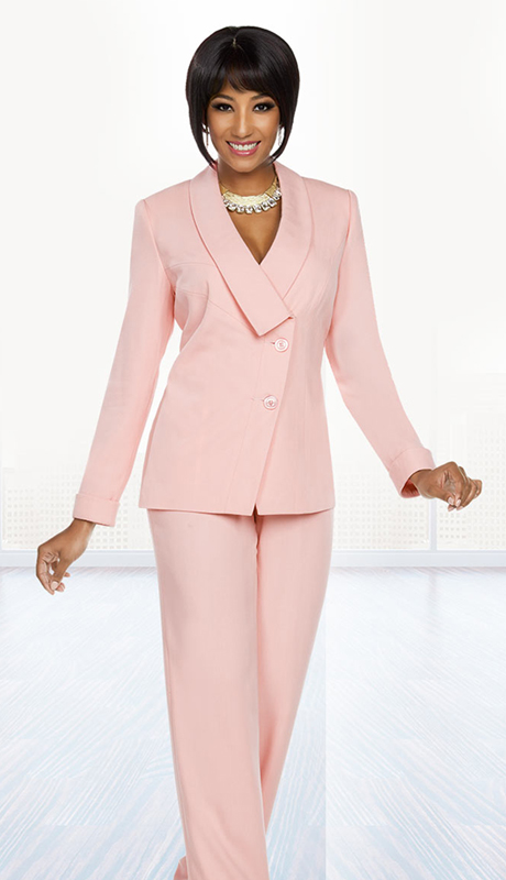 Ben Marc Executive 11773-PI ( 2pc Church And Career Pant Suit )