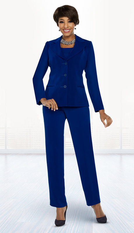 Ben Marc Executive 11770-DB ( 3pc Church And Career Pant Suit )
