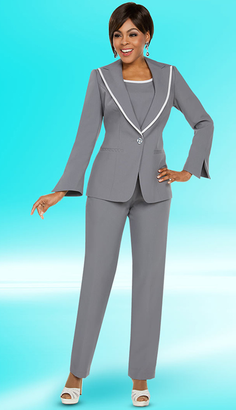 Ben Marc Executive 11766-CW ( 3pc Church And Career Pant Suit )