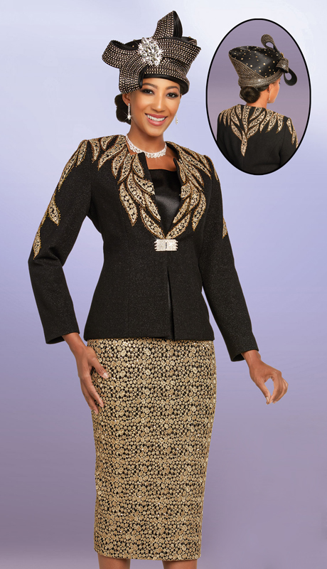 Ben Marc 48250-BG ( 2pc Exclusive Elegant Knit First Lady Suit For Church )
