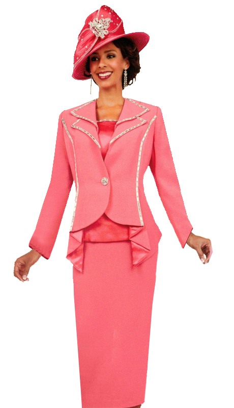 Ben Marc 47707 ( 3pc Laides Church Suit With Modern Accents )