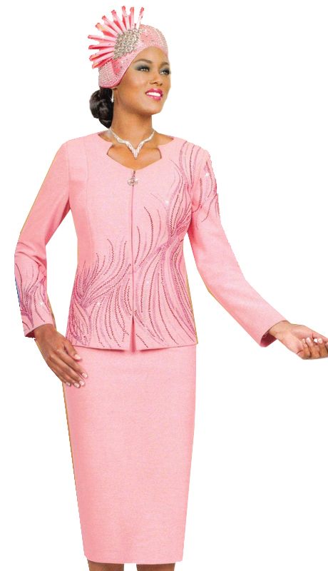Ben Marc 48008 ( 2pc Ladies Knit For Church With Monochrome Detailing )