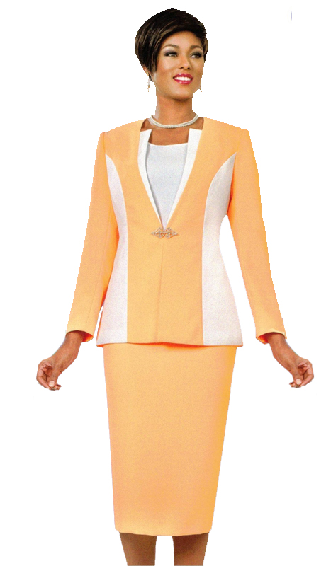 Ben Marc 11563 ( 3pc Womens Sunday Suit With Contrasting Solid Design )