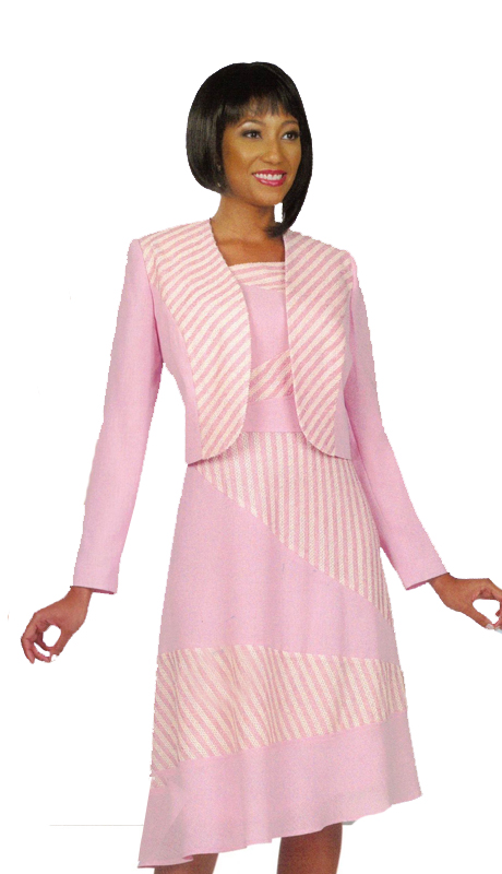 Ben Marc 11379 ( 2pc Dress And Jacket With Contrasting Off White Accents For Church )
