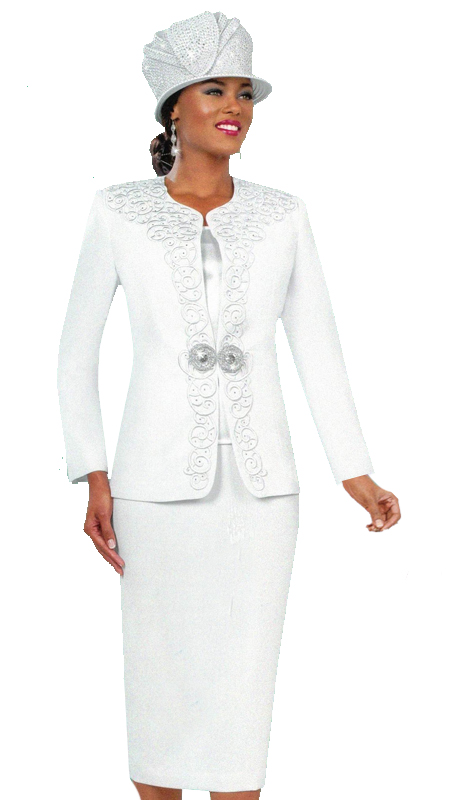 Ben Marc 48027 ( 3pc Sunday Suit With Ornate Clasp )