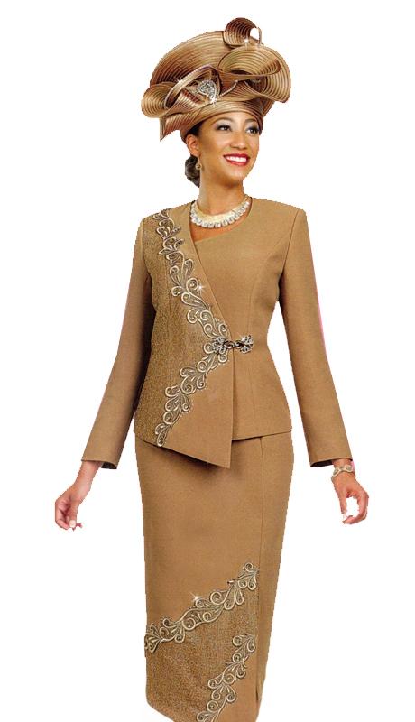 Ben Marc 47981 ( 2pc Ladies Church Suit With Asymmetrical Design )