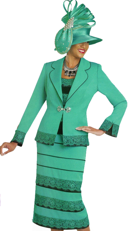 Ben Marc 47843 ( 3pc Ladies Suit With Layered Top And Skirt )