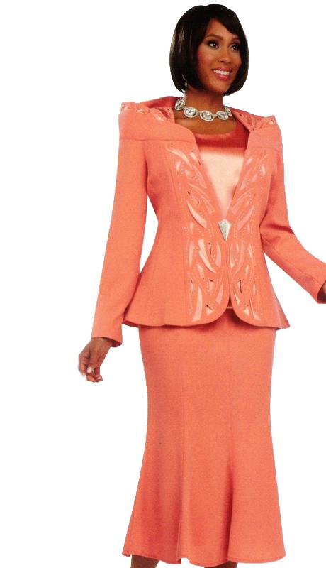 Ben Marc 47713 ( 3pc Elegant Ladies Church Suit With Striking Patterning )