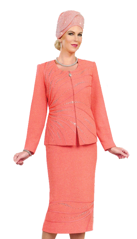 Ben Marc 48007 ( 2pc Womens Knit For Sunday Styled With Modern Simplicity )