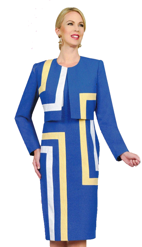 Ben Marc 11570 ( 2pc Suit For Church With Accented Geometric Design )