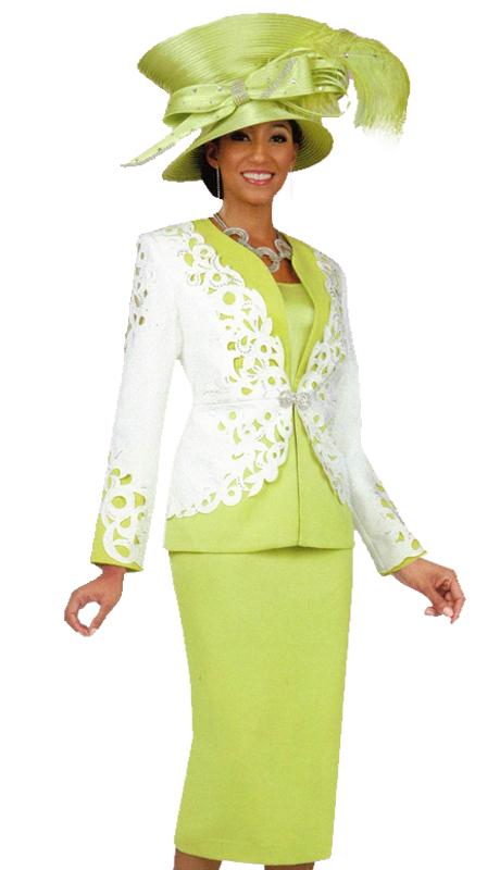 Ben Marc 47909 ( 3pc Ladies Church Suit With Lace Pattern )