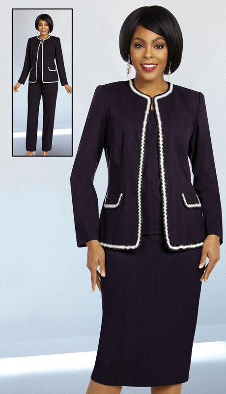 Ben Marc Executive 11827-EP ( 4pc Womens Career And Church Wardrober Set With Trimmed Jacket )