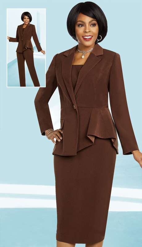 Ben Marc Executive 11823-CH ( 3pc Womens Career And Church Wardrober Set With Notch Lapel Jacket )