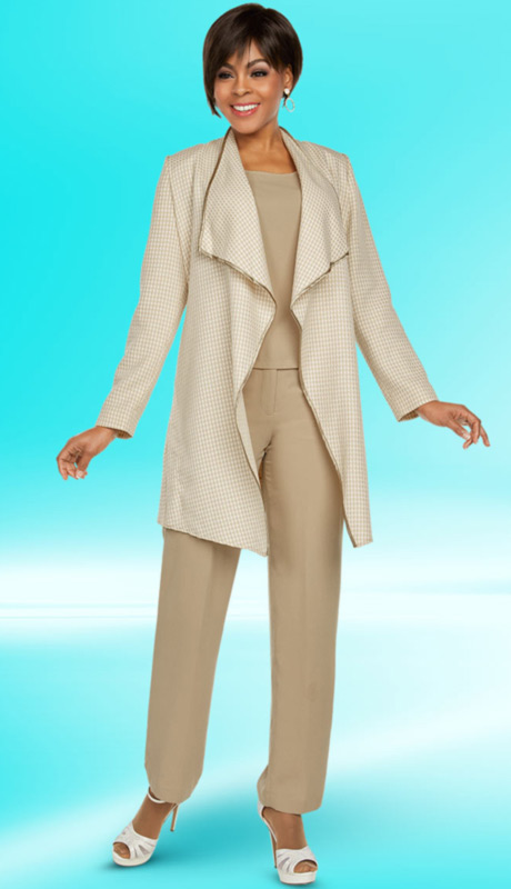 Ben Marc Executive 11772-SA ( 3pc Church And Career Pant Suit )