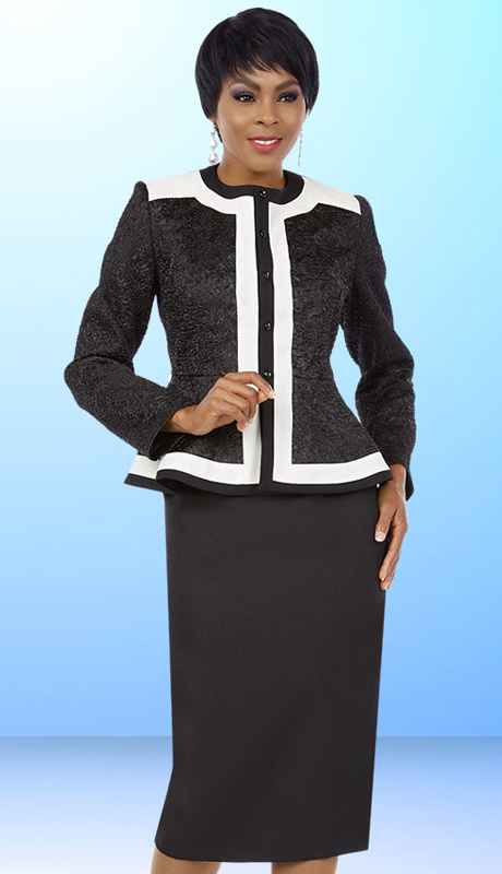 Ben Marc Executive 11574 ( 2pc Womens Church And Career Suit With Peplum Jacket And Skirt )