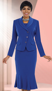 Ben Marc Executive 11581 ( 2pc Ladies Church And Career Suit With Button Front Jacket And Mermaid Skirt )
