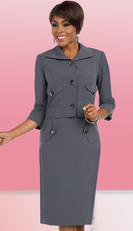 Ben Marc Executive 11591 ( 2pc Womens Church And Career Dress With Button Embellished Jacket )