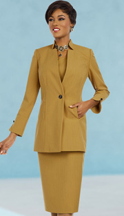 Ben Marc Executive 11606 ( 3pc Womens Church And Career Suit With Pin Stripe Jacket, Cami And Skirt )