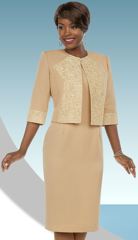 Ben Marc Executive 11691-IH-CA ( 2pc Dress Suit With Brocade Style Accents On Jacket )