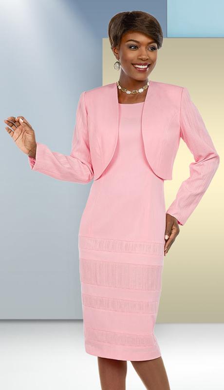 Ben Marc Executive 11688 2pc Ladies Dress Suit With Striped Texture