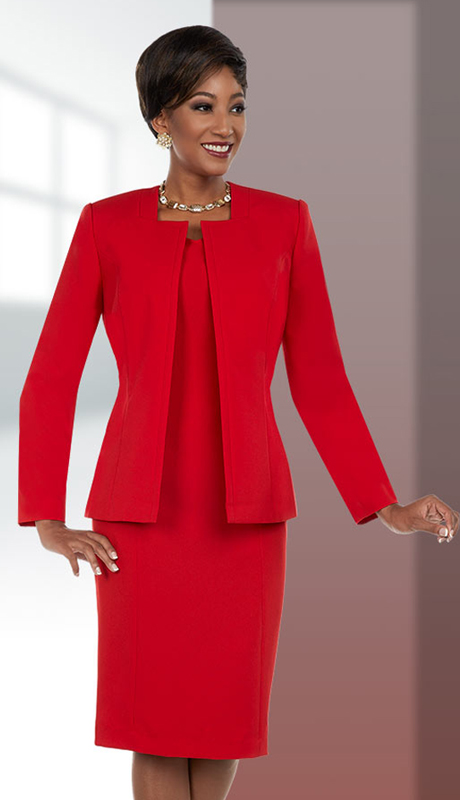 Ben Marc Executive 11687 ( 2pc Womens Church And Business Dress With Square Neckline Jacket )
