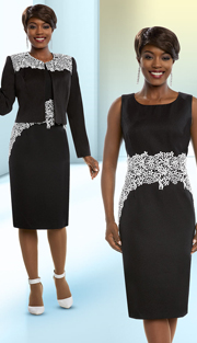 Ben Marc Executive 11681 ( 2pc Lace Applique Adorned Ladies Dress With Jacket )