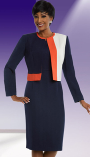 Ben Marc Executive 11679 ( 2pc Womens Multi-Color Business And Sunday Dress With Jacket )