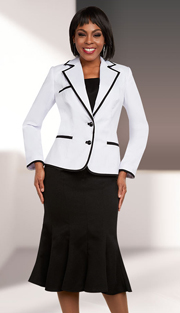 Ben Marc Executive 11661 ( 2pc Flared Skirt Suit With Notch Lapel Jacket )