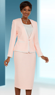Ben Marc Executive 11660 ( 3pc First Ladies Skirt Suit With Contrasting Trimmed Jacket )