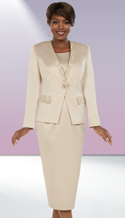 Ben Marc Executive 11659 ( 2pc Ladies Skirt Suit With Brocade Style Trims )