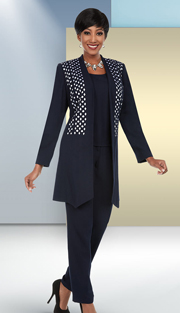 Ben Marc Executive 11656 ( 3pc Business Pant Suit With Diamond & Circle Pattern Jacket )