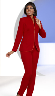 Ben Marc Executive 11651 ( 3pc Womens Career Pant Suit With Swan Necline Jacket )