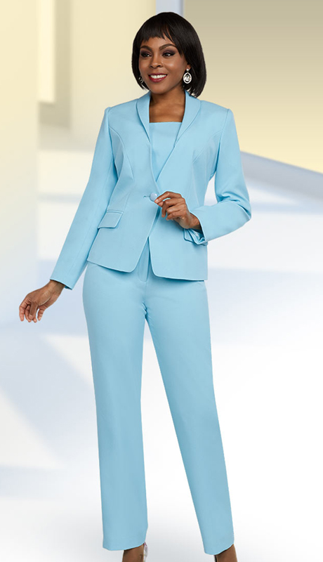 Ben Marc Executive 11646-IH-EB ( 2pc Womens Career Pant Suit With Shawl Lapel )