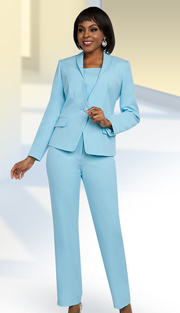 Ben Marc Executive 11648 ( 2pc Womens Pant Suit With Wide Ruffled Lapel Jacket )