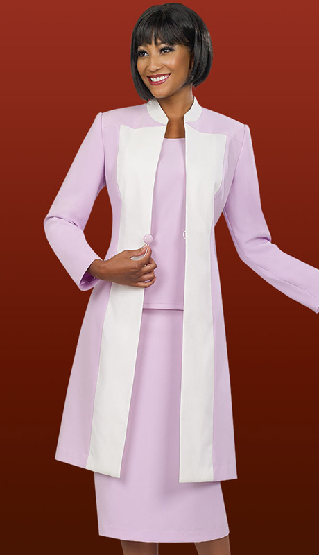 Ben Marc Executive 11562 ( 3pc Womens Church And Career With Long Jacket And Front Button, Cami And Skirt )