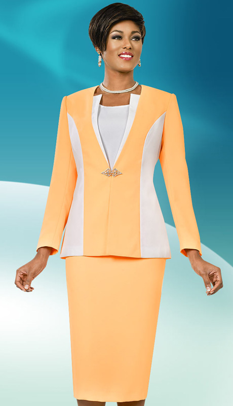 Ben Marc Executive 11563 ( 3pc Womens Church And Career Suit, Rhinestone Clasp On Jacket With Cami And Skirt )