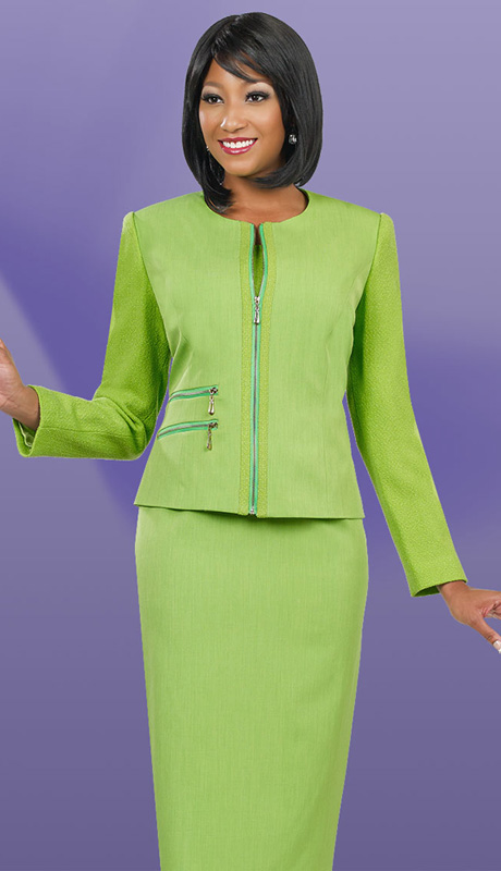 Ben Marc Executive 11498  ( 3pc Women  Church And Career Suit With Jewel Collar)