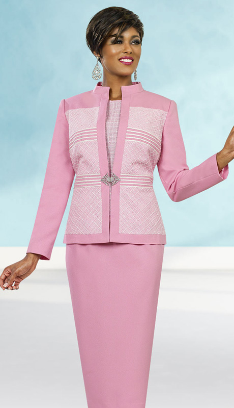 Ben Marc Executive 11524 ( 3pc Ladies Church And Career Suit With Stand-Up Collar )