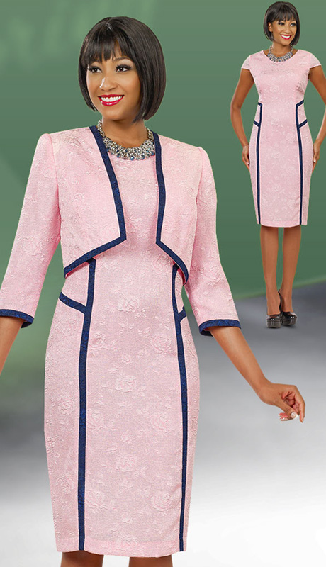 Ben Marc Executive 11528  ( 2pc Church And Career Ladies Dress With Three-Quarter Sleeve And Jewel Collar)