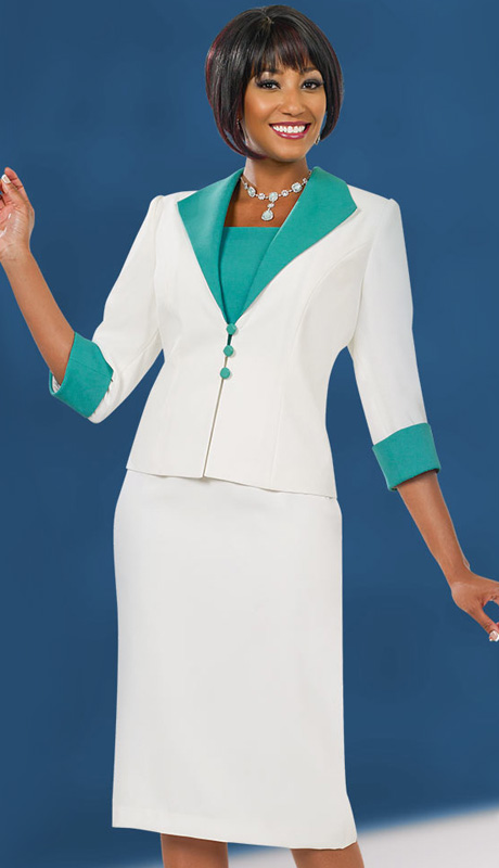 Ben Marc Executive 11544 ( 2pc Womens Church And Career Dress With Three Button Jacket )